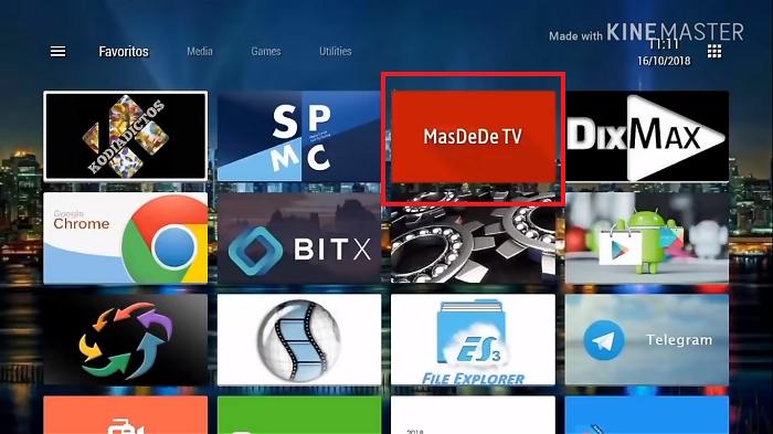 Masdede en smart tv